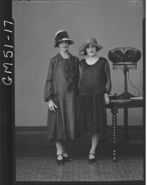 portrait of two women, F/L Hutchinson