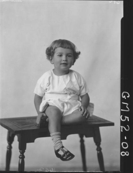 portrait of child, F/L Hawkins