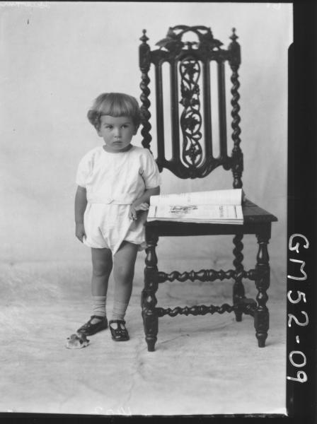 portrait of young child, F/L Hawkins