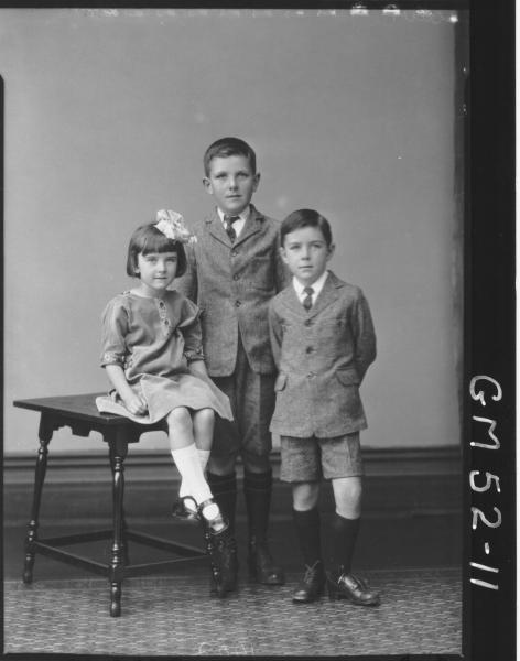 portrait of three children, F/L Grace