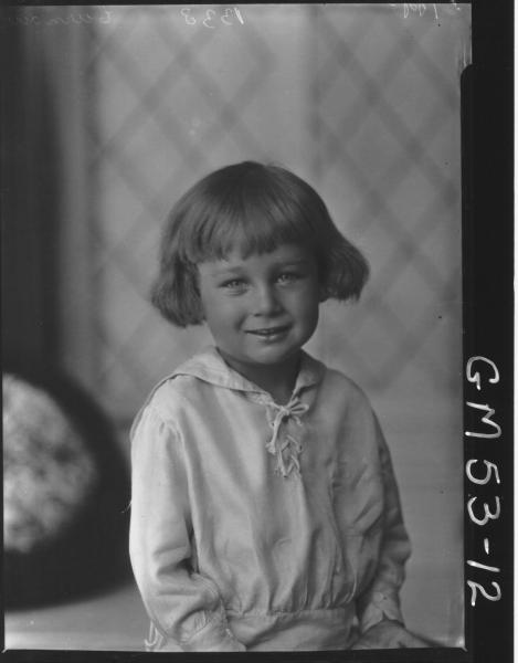 PORTRAIT OF CHILD, H/S CURNOW