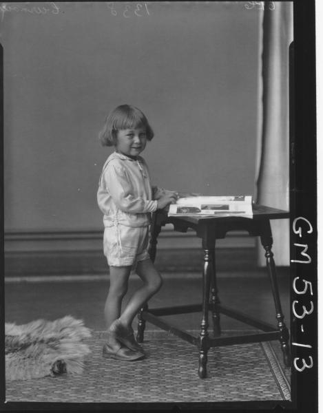 PORTRAIT OF CHILD, F/L CURNOW