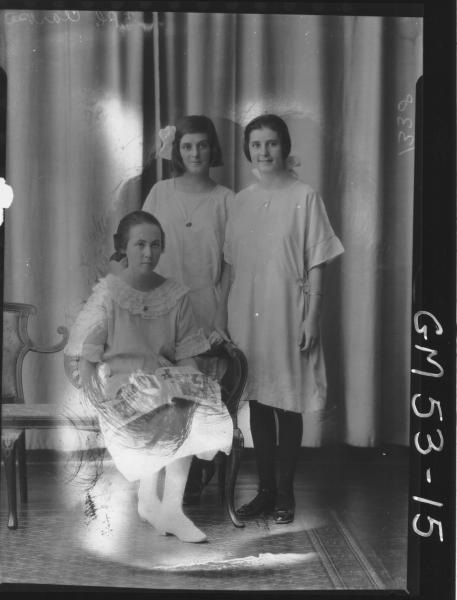 PORTRAIT OF THREE GIRLS, F/L CLARKE