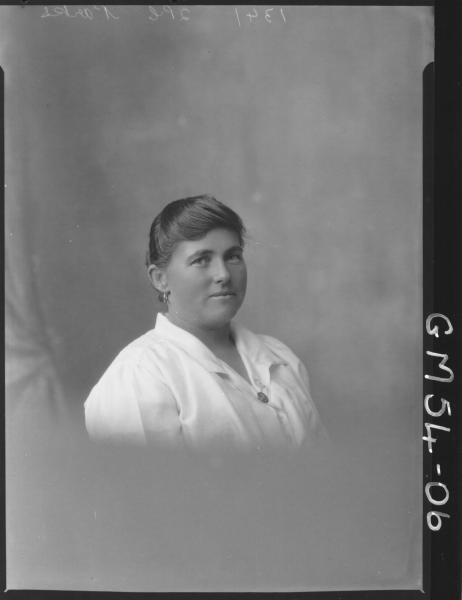 PORTRAIT OF WOMAN, H/S PARKES