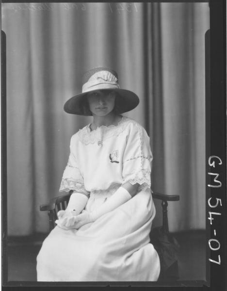 PORTRAIT OF YOUNG WOMAN, F/L MATHEWS