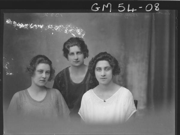 PORTRAIT OF THREE WOMEN, H/S HUSSEY