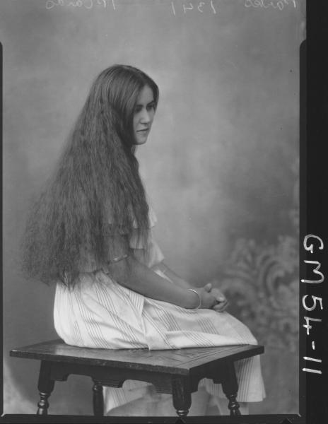 PORTRAIT OF YOUNG WOMAN, F/L PARKES