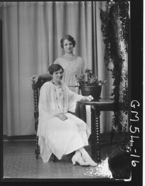 PORTRAIT OF TWO WOMEN, F/L MCQUOID