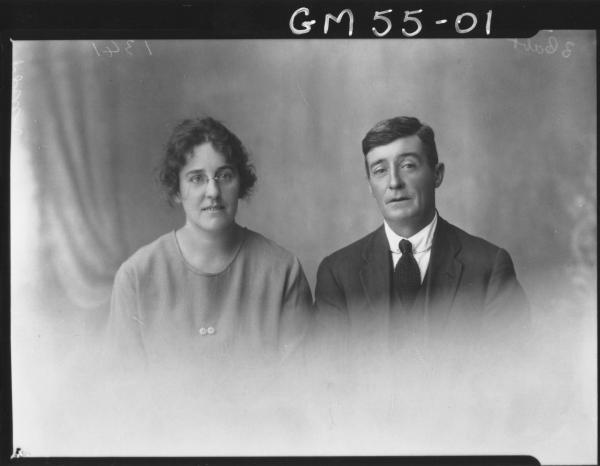 PORTRAIT OF MAN AND WOMAN, H/S PORTER