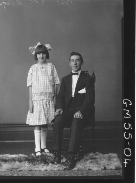 PORTRAIT OF BOY AND GIRL, F/L MEDLEY