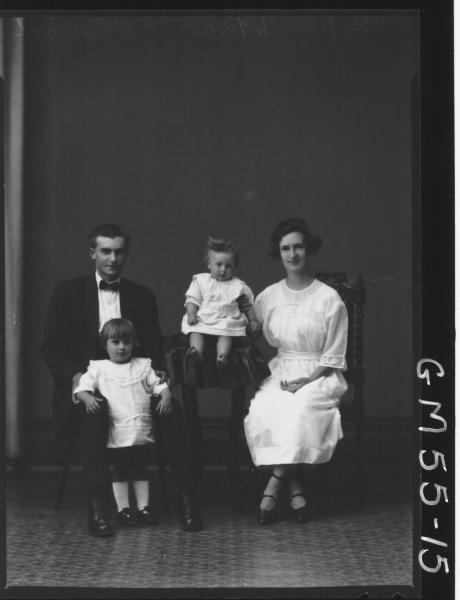 PORTRAIT OF WOMAN, MAN AND TWO CHILDREN, F/L O'CARROLL