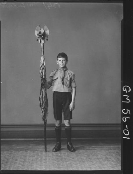 PORTRAIT OF BOY SCOUT, F/L MCDERMID