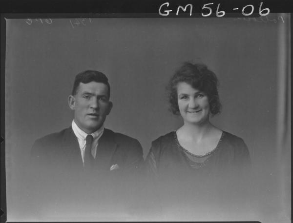 Portrait of man & woman H/S,  James POLLOCK & Bearnadette POLLOCK (brother and sister).