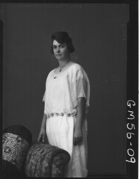 Portrait of woman Delmenico