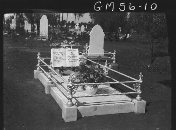 Grave of George Lyall Luscombe. Kalgoorlie Cemetery.