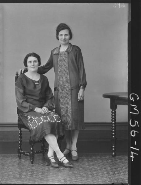 Portrait of two woman F/L, McQuoid