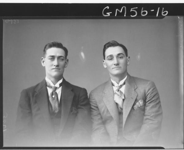 Portrait of two men H/S, McGuire