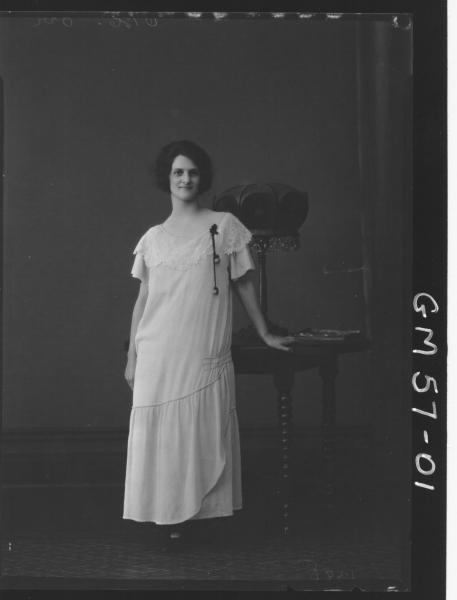 Portrait of woman F/L, Orr