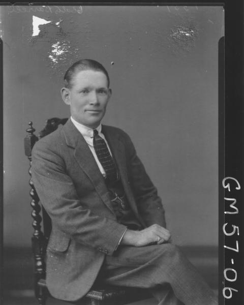 Portrait of man, Barrell