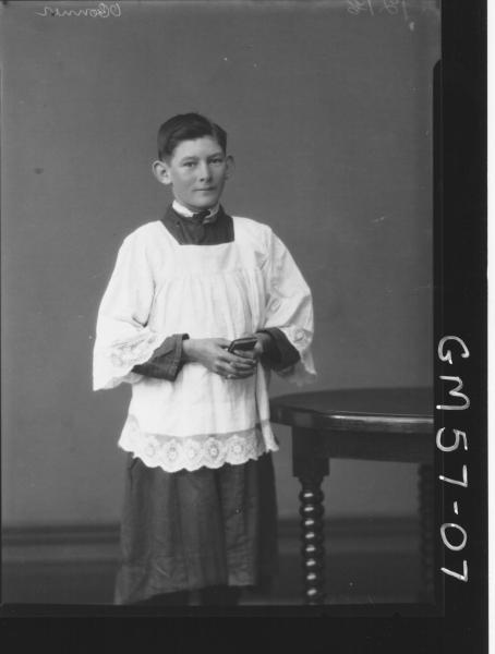 Portrait of choir boy F/L, O'Conner