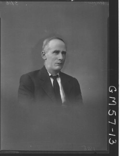Portrait of man H/S, Oldfield