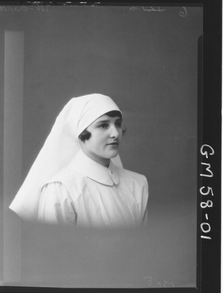 Portrait of nurse H/S, McCahon