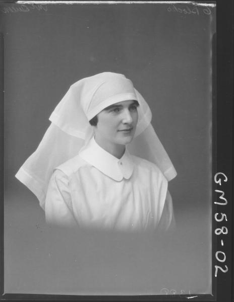 Portrait of nurse, McQueen