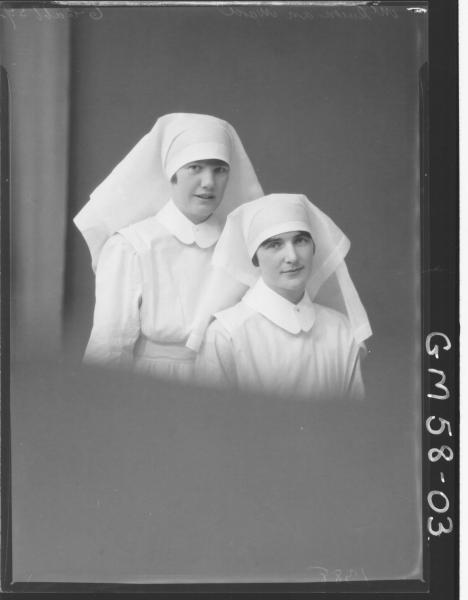Portrait of two nurses, McQueen and Ward