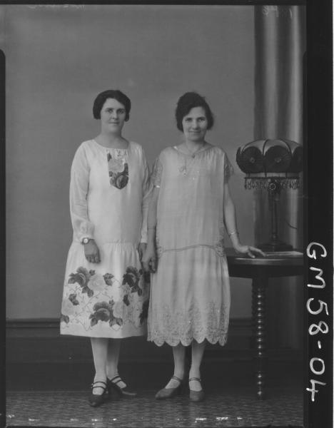Portrait of two women F/L, McQuoid