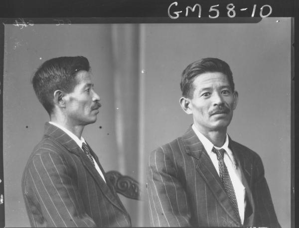 Two portrait poses of Japanese man H/S, Oto