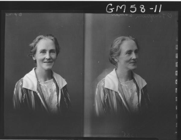 Two portrait poses of woman H/S, O'Loughlin