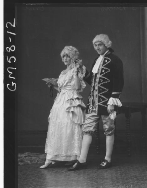 Fancy dress man and woman F/L, O'Neil
