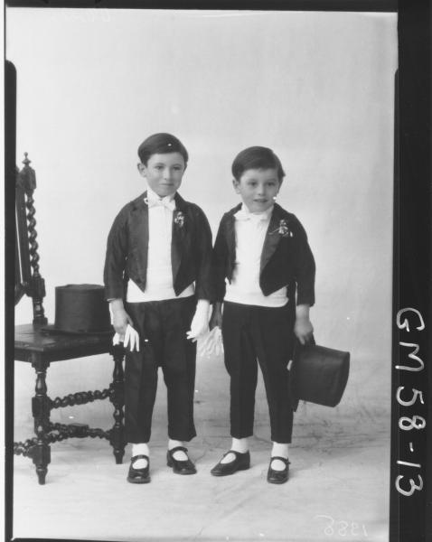 Two boys in fancy dress, O'Brien