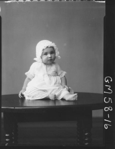Portrait of baby F/L, Brockway