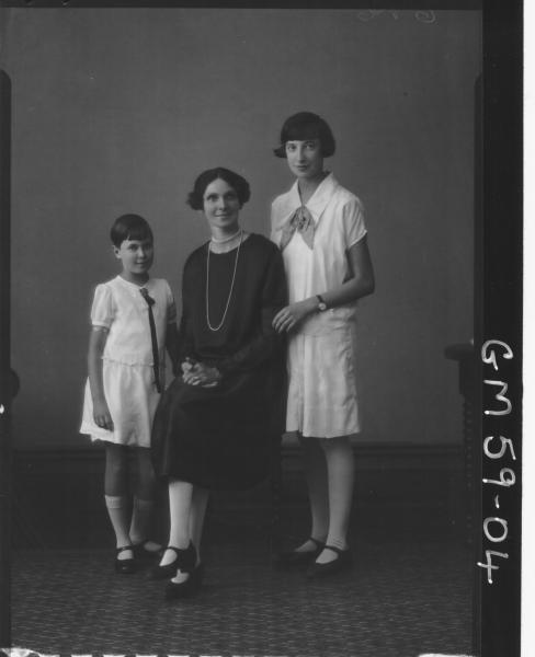 Portrait of woman and two girls F/L, Bennett