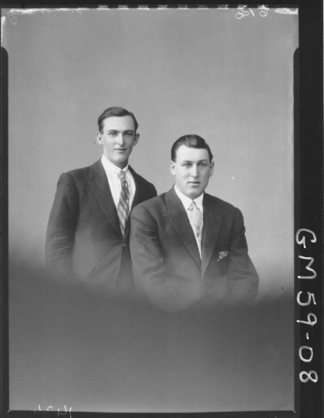 Portrait of two young men, Armstrong