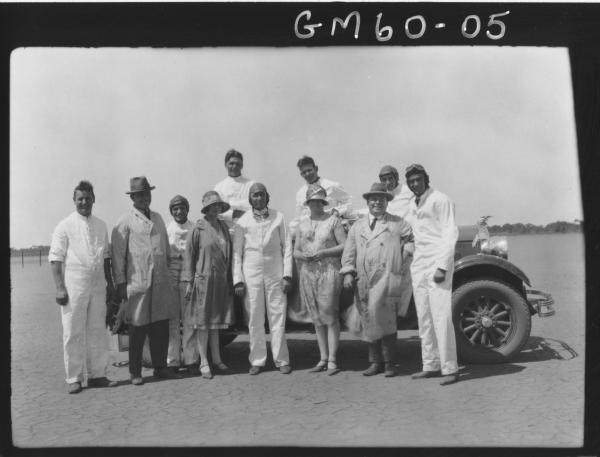 Studebaker sports car trials on lake Perkollili