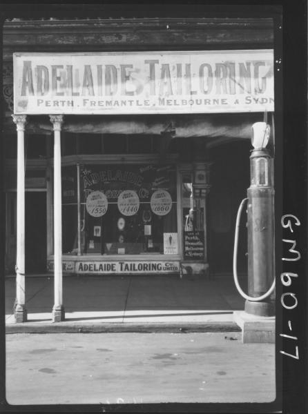 Adelaide tailoring shop