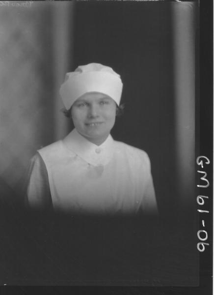 Portrait of nurse H/S, Brooks