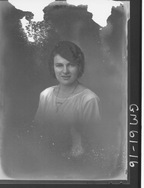 Portrait of woman H/S, Miles