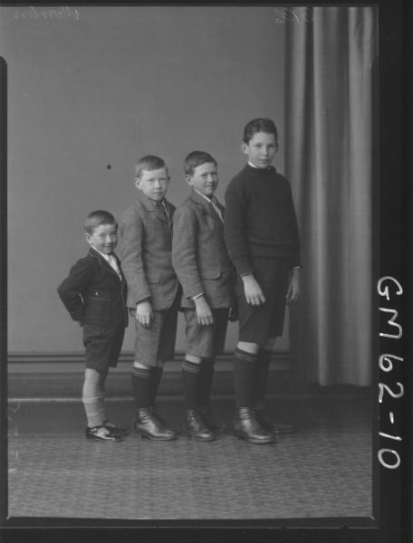 Portrait of four boys Martin