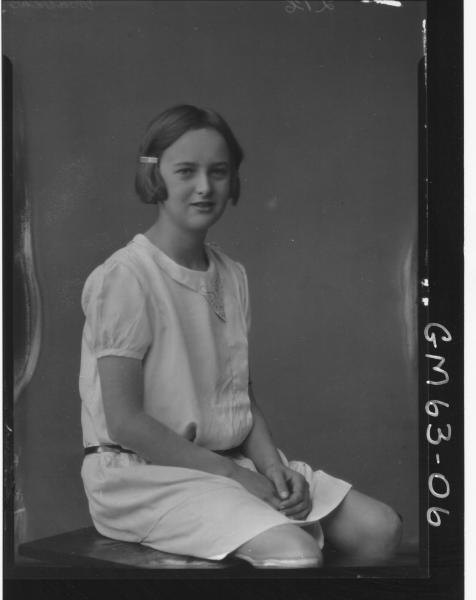 Portrait of girl Mathews