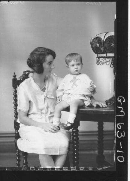 Portrait of woman and baby