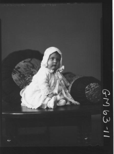 Portrait of baby Bovell