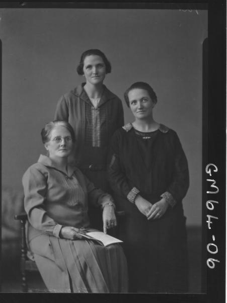 Portrait of three woman Thompson