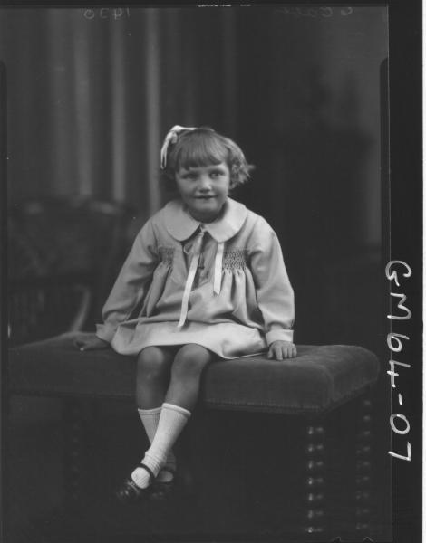Portrait of child F/L, Borg