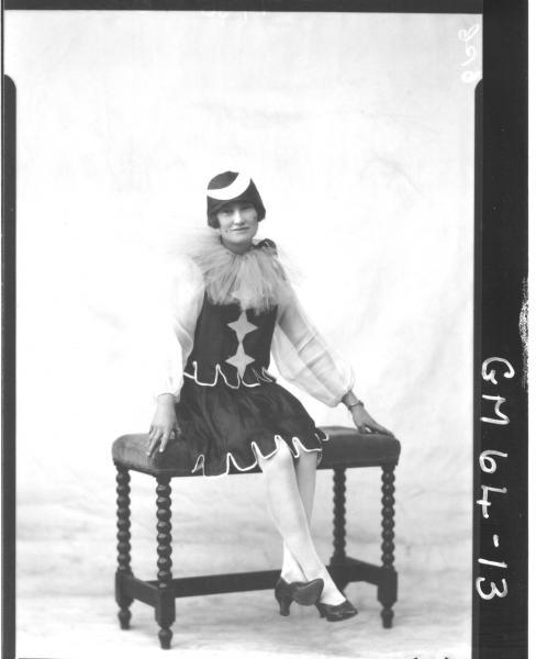 Portrait of woman fancy dress
