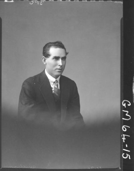 Portrait of man H/S, Williams