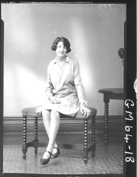 Portrait of woman F/L, Williams