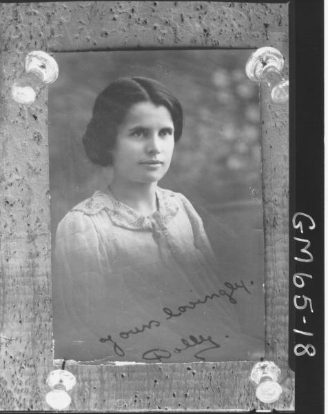 Copy of portrait of woman H/S, Barnes